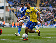 Leeds United midfielder Kemar Roofe (7)  during the EFL Sky Bet Championship match between Birmingham City and Leeds United at St Andrews, Birmingham, England on 6 April 2019.