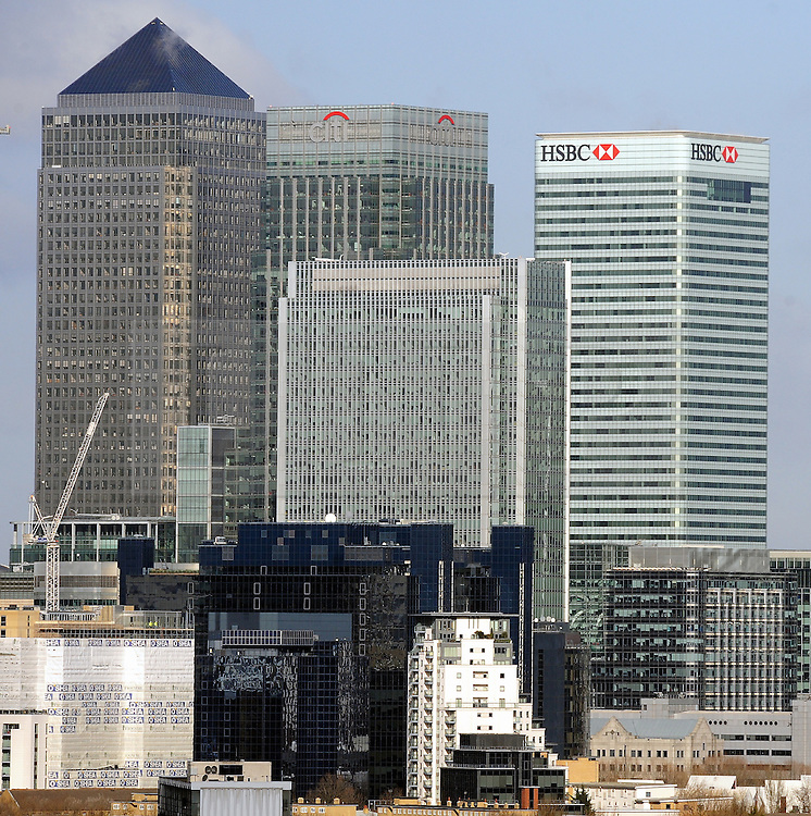© Licensed to London News Pictures. 15/02/2016<br /> HCBC Building Canary Wharf,London. HSBC are to keep their headquarters in London and reject a move to Hong Kong.<br />  (Byline:Grant FalveyLNP)