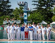 Judges <br /> 25th FINA Diving Grand Prix 2019<br /> 16/06/2019<br /> Tuffi Diving<br /> Piscina Lido Bolzano<br /> Photo © Giorgio Perottino/Deepbluemedia/Insidefoto