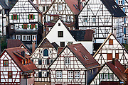 Quaint timber-framed houses in Schiltach in the Bavarian Alps, Germany