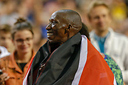 Timothy Cheruiyot (Kenya) winner of the Men's 1500m during the IAAF Diamond League event at the King Baudouin Stadium, Brussels, Belgium on 6 September 2019.