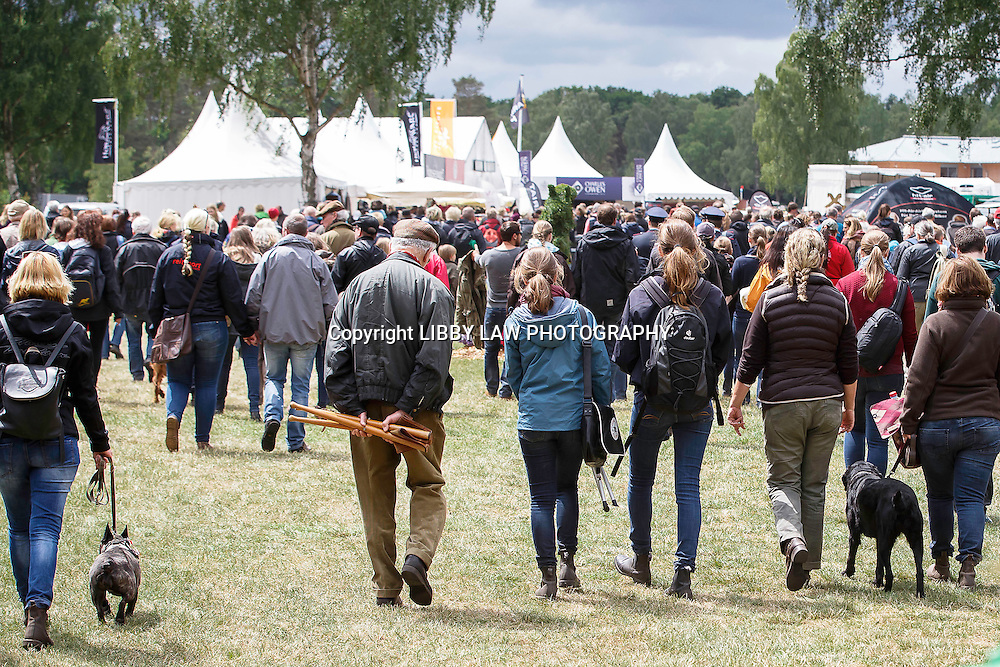 The Crowds head back to the Trade Area at lunchtime: CCI4* CROSS COUNTRY: 2015 GER-DHL Luhmühlen CCI4* (Saturday 20 June) CREDIT: Libby Law COPYRIGHT: LIBBY LAW PHOTOGRAPHY