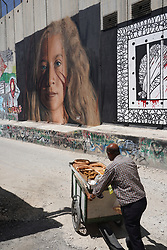 Graffiti depicting Palestinian activist Ahed Tamimi on the wall of separation in Bethlehem. From a series of travel photos taken in Jerusalem and nearby areas. Photo date: Wednesday, August 1, 2018. Photo credit should read: Richard Gray/EMPICS