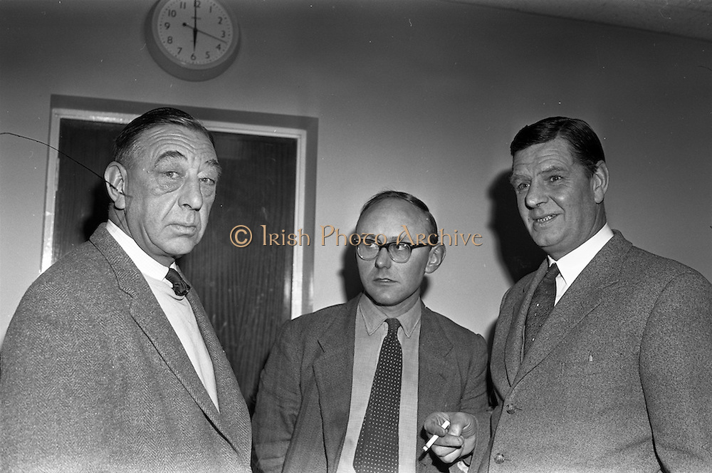 04/02/1963<br /> 02/04/1963<br /> 04 February 1963<br /> Directors of  Merville Dairy's at Merville Dairy's, Finglas, Dublin. Mr. Eric Craigie, Managing Director on right.