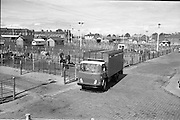 18/05/1966<br /> 05/18/1966<br /> 18 May 1966<br /> Austin Trucks special.<br /> Austin cattle truck at The Dublin Cattle Market, Prussia Street, Dublin.