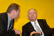 Christian Prudhomme, Director of the Tour de France, and Ken Livingstone, Mayor of London, at the official launch of London hosting the Prologue and Stage One of the 2007 Tour de France held at the Queen Elizabeth 2 Conference Centre on Thursday 9th February 2006.