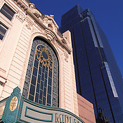 Missouri, Kansas City; Midland Theater And One KC Place Building In Background