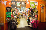 T-Shirt shop on Sixth Street in Austin Texas, January 23, 2009. Sixth street is the heart of Austin's entertainment district.
