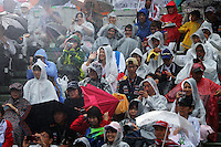 Fans in the grandstand.<br /> Japanese Grand Prix, Thursday 2nd October 2014. Suzuka, Japan.