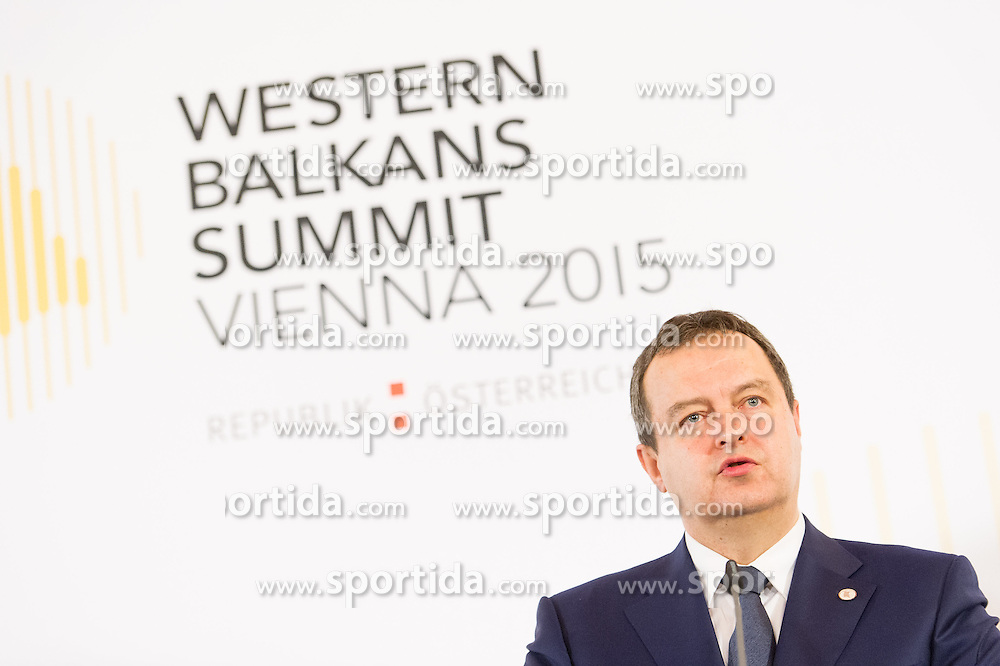 27.08.2015, Hofburg, Wien, AUT, Westbalkan Konferenz, Pressekonferenz der Aussenminister, im Bild TEXT // during press conference of the foreign ministers during Western Balkans Summit at Hofburg in Vienna, Austria on 2015/08/27, EXPA Pictures © 2015, PhotoCredit: EXPA/ Michael Gruber