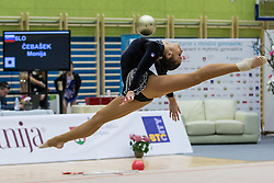 Cebasek Monija of Slovenia competes during 29th MTM - International tournament in rhythmic gymnastics Ljubljana, on March 12, 2016 in gymnastics center Ljubljana, Ljubljana, Slovenia.  Photo by Grega Valancic / Sportida