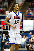 Cannen Cunningham #15 of the SMU Mustangs reacts after a missed shot against the Memphis Tigers at Moody Coliseum on Wednesday, February 6, 2013 in University Park, Texas. (Cooper Neill/The Dallas Morning News)