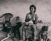 Sarajevo - 23 July 2013 - Gorica breastfeeding her 3 month old Jamil.