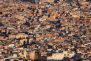 General view of the medina, Fez, Morocco, pictured on February 22, 2009 in the morning. Fez, Morocco's second largest city, and one of the four imperial cities, was founded in 789 by Idris I on the banks of the River Fez. The oldest university in the world is here and the city is still the Moroccan cultural and spiritual centre. Fez has three sectors: the oldest part, the walled city of Fes-el-Bali, houses Morocco's largest medina and is a UNESCO World Heritage Site;  Fes-el-Jedid was founded in 1244 as a new capital by the Merenid dynasty, and contains the Mellah, or Jewish quarter; Ville Nouvelle was built by the French who took over most of Morocco in 1912 and transferred the capital to Rabat. Picture by Manuel Cohen.