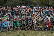 The Normans attack uphill - English Heritage's annual re-enactment of the Battle of Hastings marks the 950th anniversary of the Battle in 1066. The event includes a Cavalry encampment, Norman & Saxon encampments and Medieval traders. It takes place at Battle Abbey on October 15th and 16th.