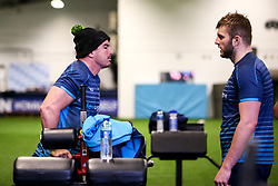 Sam Lewis of Worcester Warriors and Tom Dodd of Worcester Warriors during training ahead of the European Challenge Cup Pool Fixture against State Francais - Mandatory by-line: Robbie Stephenson/JMP - 15/01/2019 - RUGBY - Sixways Stadium - Worcester, England - Worcester Warriors Training