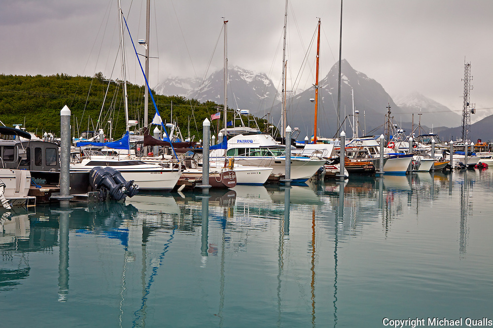 Valdez, Alaska small boat harbor.