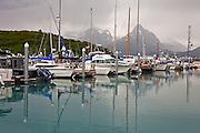 Valdez, Alaska small boat harbor.