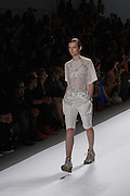A white short set with a glittery top by Richard Chai at the Spring 2013 Mercedes Benz Fashion Week show in New York.