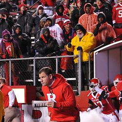 Oct 16, 2009; Piscataway, NJ, USA; Rutgers head coach Greg Schiano leads his team onto the field for  NCAA football action between Rutgers and Pittsburgh at Rutgers Stadium