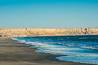 Colan beach in the peruvian coast at Piura Peru