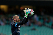 SYDNEY, AUSTRALIA - OCTOBER 27: Sydney FC goalkeeper Andrew Redmayne (1) catches the ball during warmup at The Hyundai A-League Round 1 soccer match between Sydney FC and Western Sydney Wanderers FC The Sydney Cricket Ground in Sydney on October 27, 2018. (Photo by Speed Media/Icon Sportswire)