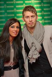12.12.2010, Hudson, Bremen, GER, Weihnachtsfeier Werder Bremen, im Bild  Aaron Hunt ( Werder #14 ) mit Freundin Semra   EXPA Pictures © 2010, PhotoCredit: EXPA/ nph/  Kokenge       ****** out ouf GER ******