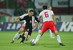 WARSAW, POLAND - WEDNESDAY, SEPTEMBER 7th, 2005: Wales' Jason Koumas in action against Poland during the World Cup Group Six Qualifying match at the Legia Stadium. (Pic by David Rawcliffe/Propaganda)