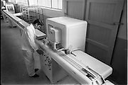 17/01/1963<br /> 01/17/1963<br /> 17 January 1963<br /> Interiors of Liam Devlin and Sons Ltd. Dublin Sweet Factory at Cork Street, Dublin. Image shows machinery for making candy sweet-cigarettes.