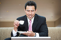 Businessman Drinking Espresso