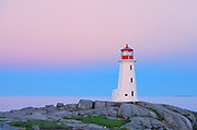 Peggy's Cove Lighthouse at dawn<br />