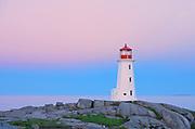 Peggy's Cove Lighthouse at dawn<br />Peggy's Cove<br />Nova Scotia<br />Canada