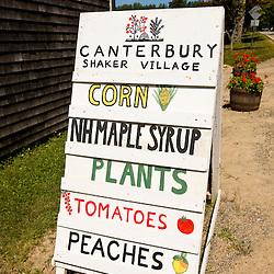 The farm stand at the Canterbury Shaker Village in Canterbury, New Hampshire.