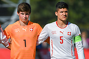 21.09.2017; Niederhasli; FUSSBALL U16 - Schweiz - Italien;<br /> Torhueter Joel Bonorand (SUI) Elmedin Fazlic (SUI) <br /> (Andy Mueller/freshfocus)