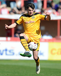 Newport County's Regan Poole - Photo mandatory by-line: Harry Trump/JMP - Mobile: 07966 386802 - 06/04/15 - SPORT - FOOTBALL - Sky Bet League Two - Exeter City v Newport County - St James Park, Exeter, England.