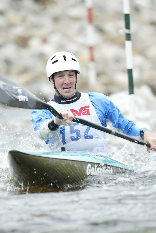 (Ottawa, Ontario---29/05/09)  Christopher MCTAGGART competing in the second run of the  K1 class at the 2009 Canadian Whitewater Slalom National Team Trials.. The CanoeKayak Canada championship race for canoes and kayaks was held at the Pump House course in Ottawa and was hosted by the Ottawa River Runners. The event ran from 29-31 May 2009. Copyright photograph Sean Burges / Mundo Sport Images, 2009. www.mundosportimages.com / www.msievents.