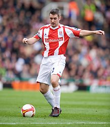 STOKE, ENGLAND - Sunday, October 19, 2008: Stoke City's Andy Griffin during the Premiership match against Tottenham Hotspur at the Britannia Stadium. (Photo by David Rawcliffe/Propaganda)