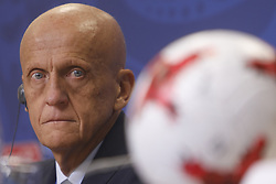 July 1, 2017 - Sain Petersburg, Russia - FIFA's Chairman of the Referees Committee Pierluigi Collina during FIFA Confederations Cup Russia 2017 closing press conference at Saint Petersburg Stadium on July 1, 2017 in Saint Petersburg, Russia. (Credit Image: © Mike Kireev/NurPhoto via ZUMA Press)