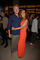 Myleene Klass and boyfriend at the Warner Music Group and British GQ Summer Party in partnership with Quintessentially held at Nobu Shoreditch, Willow StreetLondon England. 5 July 2017.<br /> Photo by Dominic O'Neill/SilverHub 0203 174 1069 sales@silverhubmedia.com