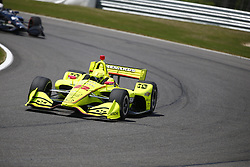 April 23, 2018 - Birmingham, Alabama, United States of America - SIMON PAGENAUD (22) of France battles for position through the turns during the Honda Grand Prix of Alabama at Barber Motorsports Park in Birmingham, Alabama. (Credit Image: © Justin R. Noe Asp Inc/ASP via ZUMA Wire)