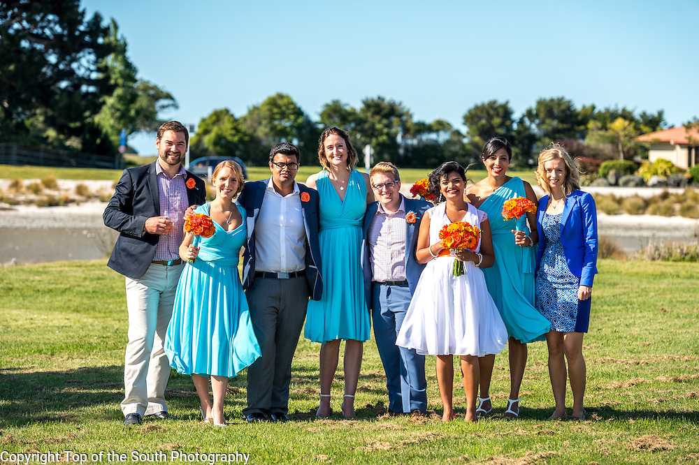 Wedding - Priyanka Bhonsule and John Hudson at Monaco, Nelson, New Zealand on 31-10-2015.