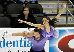 Charlotte Maxwell and Ryan Devereaux  perform during the championship free dance competition at the U.S. Figure Skating Championships Saturday, Jan. 21, 2017, in Kansas City, Mo. (AP Photo/Colin E. Braley)