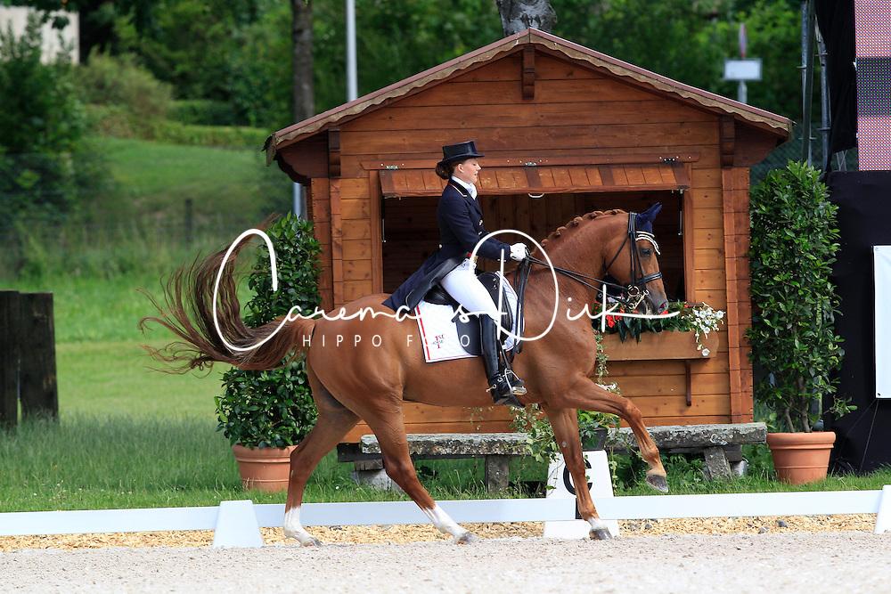 Dufour Catherine (DEN) - Atterupgaards Cassidy<br /> FEI European Championship Juniors - Bern 2012<br /> © Hippo Foto - Leanjo de Koster