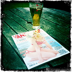 Vanity Fair and 1664..Hipstamatic images taken on an Apple iPhone..©Michael Schofield.