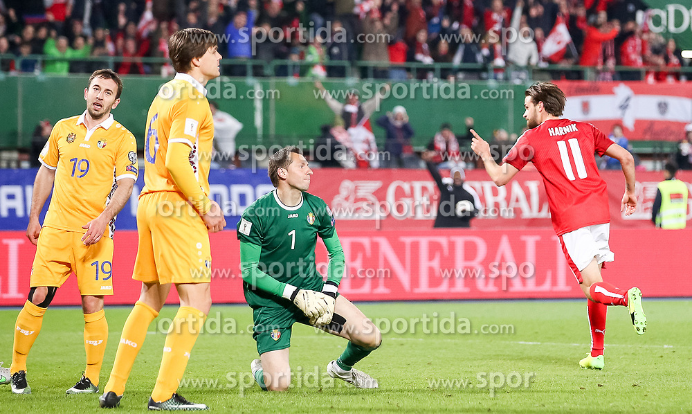 24.03.2017, Ernst Happel Stadion, Wien, AUT, FIFA WM 2018 Qualifikation, Oesterreich vs Moldawien, Gruppe D, im Bild Martin Harnik (AUT) // during the FIFA World Cup 2018, group D qualifying match between Austria and Moldova at the Ernst Happel Stadion in Wien, Austria on 2017/03/24. EXPA Pictures © 2017, PhotoCredit: EXPA/ Alexander Forst
