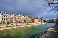France, Paris (75), Île de la cité durant le confinement du Covid 19 // France, Paris, Île de la cité during the containment of Covid 19