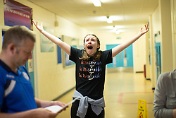 © Licensed to London News Pictures . 24/08/2017 . Rochdale , UK . EMILY CAVANAH (15, from Norden - turns 16 on Saturday 26th August gets 2xA**, 5xA*, 4xA) cries with joy with father COLIN . Students at Oulder Hill Community School collect their GCSE exam results . Photo credit : Joel Goodman/LNP