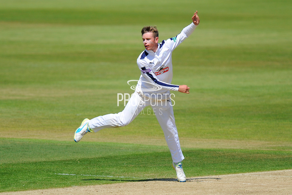 Hampshire's Mason Crane during the Specsavers County Champ Div 1 match between Hampshire County Cricket Club and Surrey County Cricket Club at the Ageas Bowl, Southampton, United Kingdom on 18 July 2016. Photo by Graham Hunt.