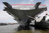 The Intrepid Sea, Air and Space Museum docked in  New York harbor.Shot on April 18, 2009...Photo Credit; Rahav Segev / Photopass