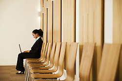 Jun. 16, 2008 - Businesswoman waiting for interview. Model and Property Released (MR&PR) (Credit Image: © Cultura/ZUMAPRESS.com)